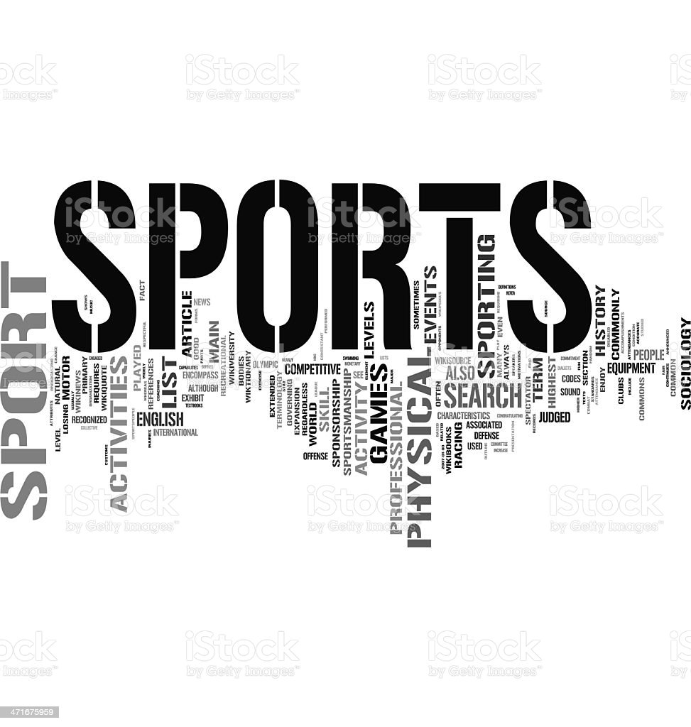 Sports Related Words Organized As A Word Cloud Stock Photo
