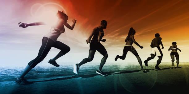 sports science - ricerca scientifica foto e immagini stock