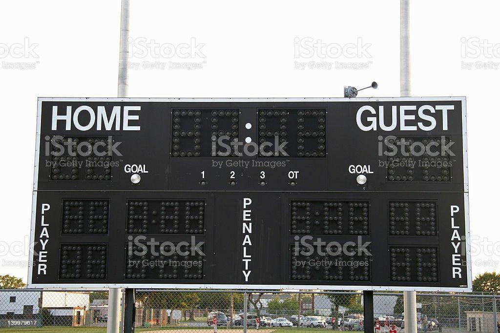 Sports Scoreboard royalty-free stock photo