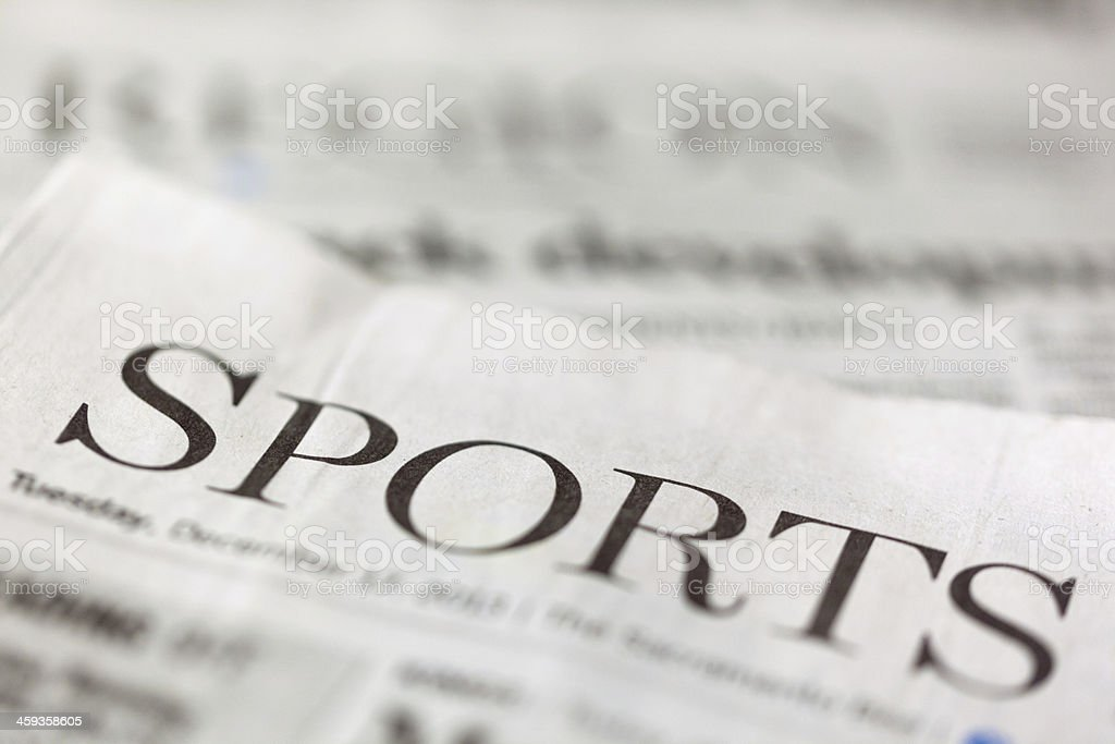 Sports Section stock photo
