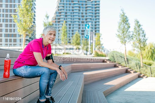 istock Sports senior woman 1161641224