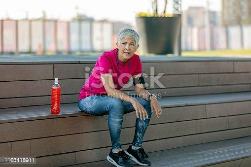 istock Sports senior woman 1163418911