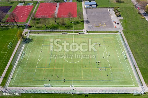istock Sports Stadium and Fields Viewed from Above 1304237346