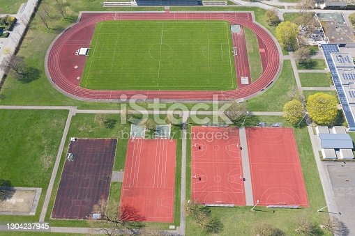 istock Sports Stadium and Fields Viewed from Above 1304237945