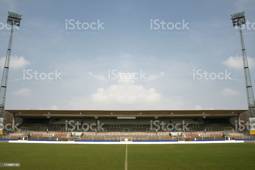 Sports stadium in summer royalty-free stock photo