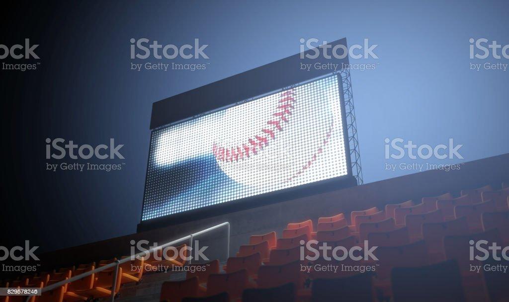Sports Stadium Scoreboard stock photo