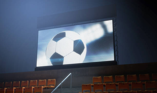 sports stadium scoreboard - scoring stock photos and pictures
