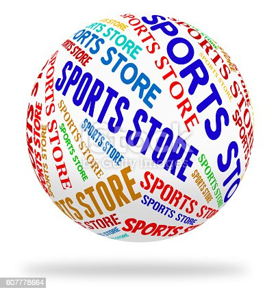 Sports Store Meaning Retail Sales And Merchandise