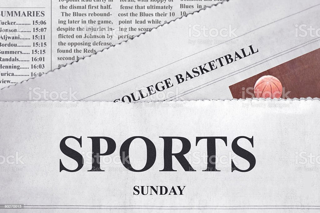 Sports Sunday stock photo