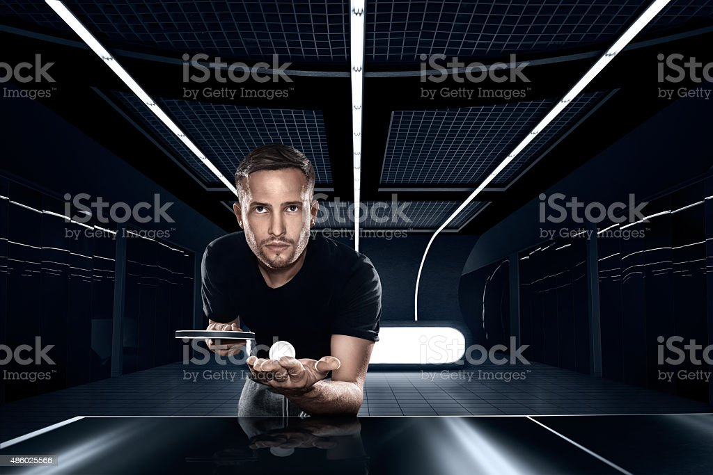 Sports. Table Tennis, Ping-pong. stock photo