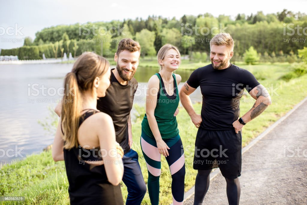 Sports team outdoors - Royalty-free Adult Stock Photo