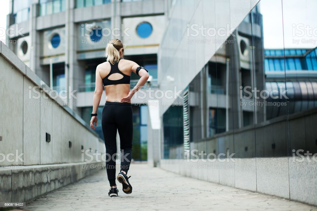 Sports training stock photo