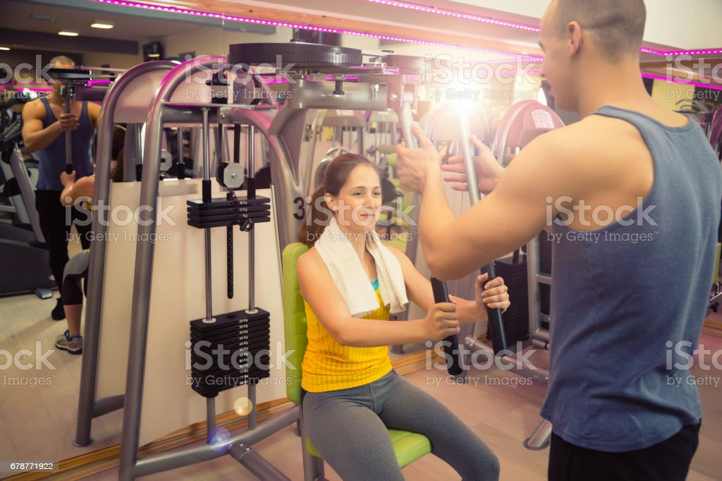 Sports training with person instructor. royalty-free stock photo