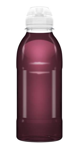 garrafa plástica da bebida da vitamina dos esportes - squeeze bottle - fotografias e filmes do acervo