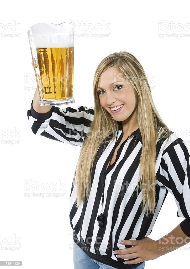 Sports Waitress and Beer stock photo
