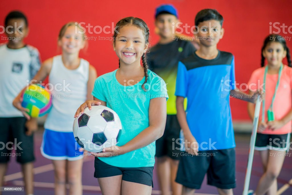 Sports with Friends stock photo