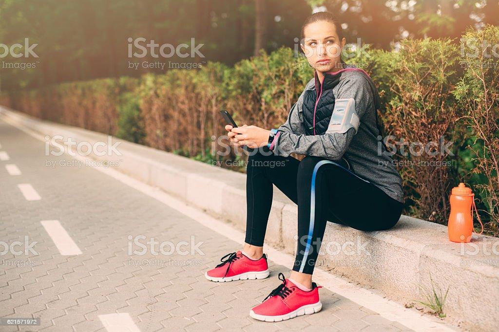 Sport femme SMS photo libre de droits
