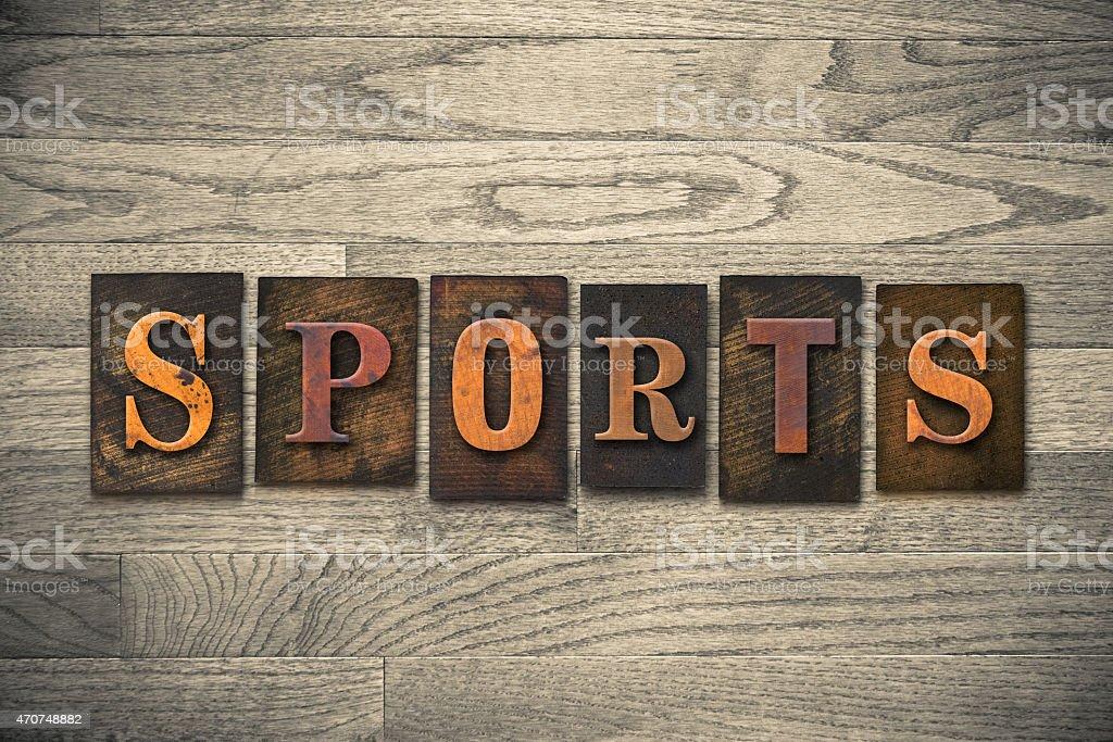 Sports Wooden Letterpress Theme stock photo