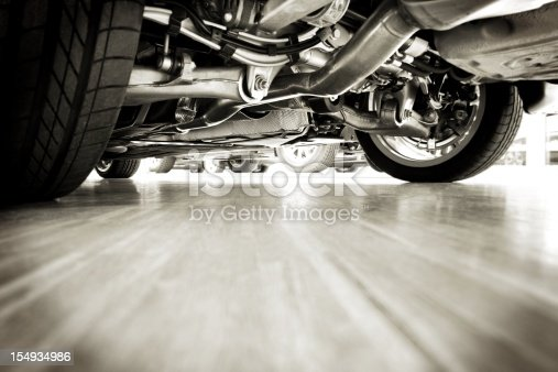 istock Sportscar technik from below 154934986