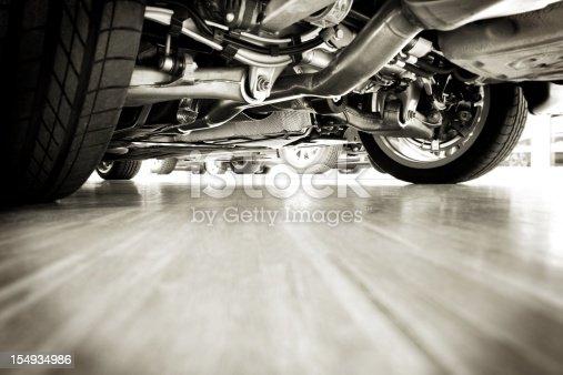 154934986 istock photo Sportscar technik from below 154934986