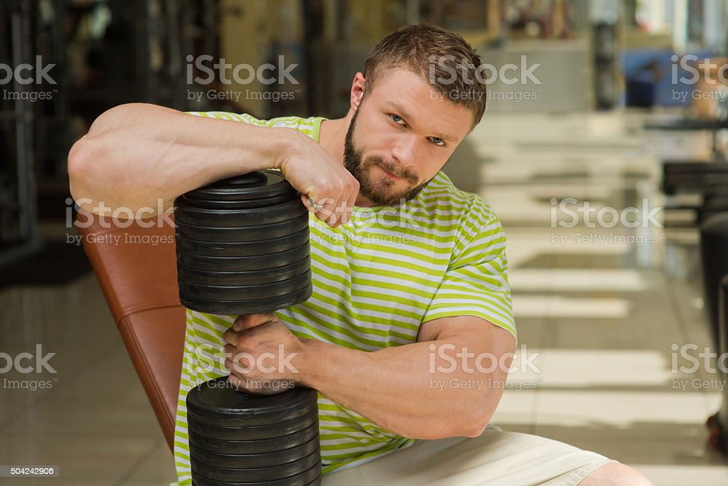 Sportsman heawyweight. stock photo