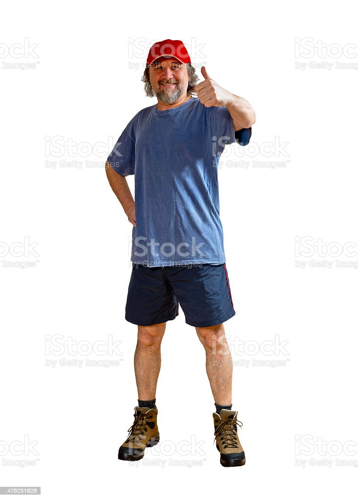 sportsman on the white stock photo