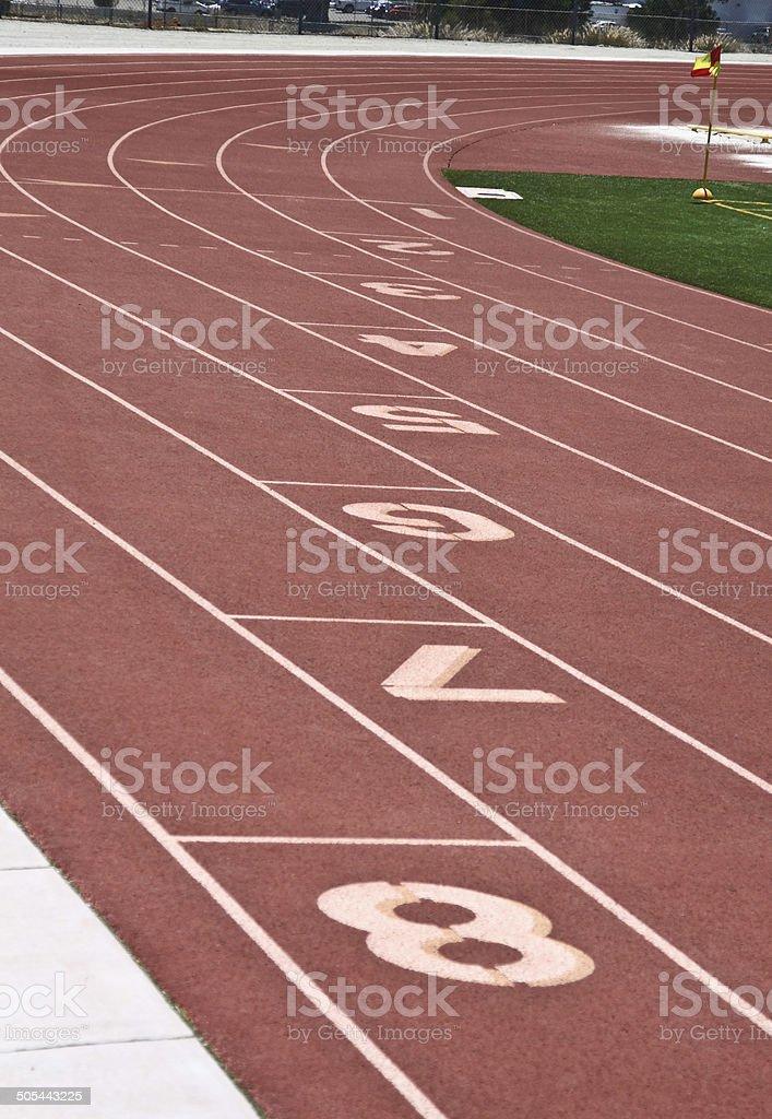 Sports:Oval Race Track Lanes stock photo