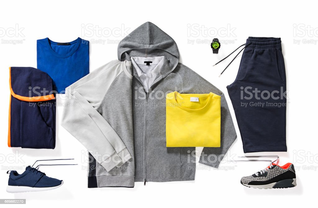 Sportswear isolated on white background stock photo