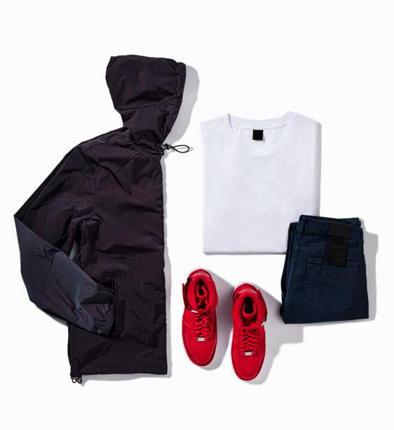 Sportswear isolated on white background stock photo