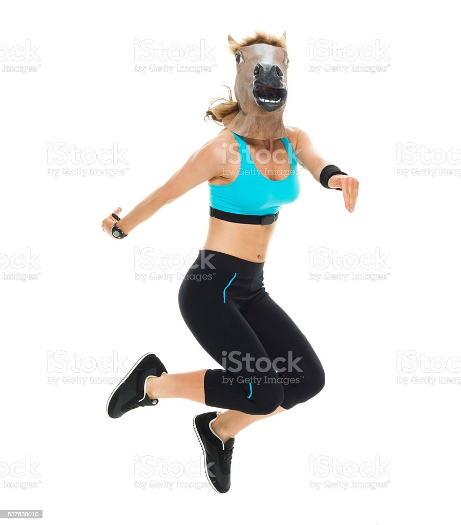 Sportswoman In Horse Costume Stock Photo Download Image Now Istock