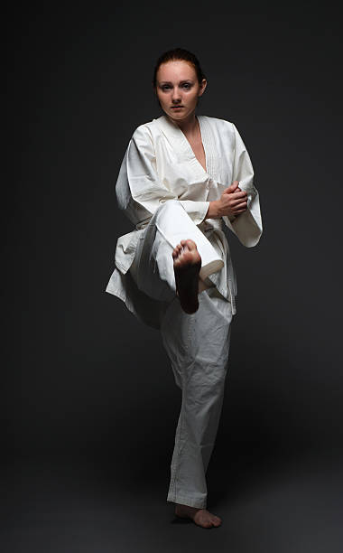 Female Karate Feet Background Stock Photos, Pictures