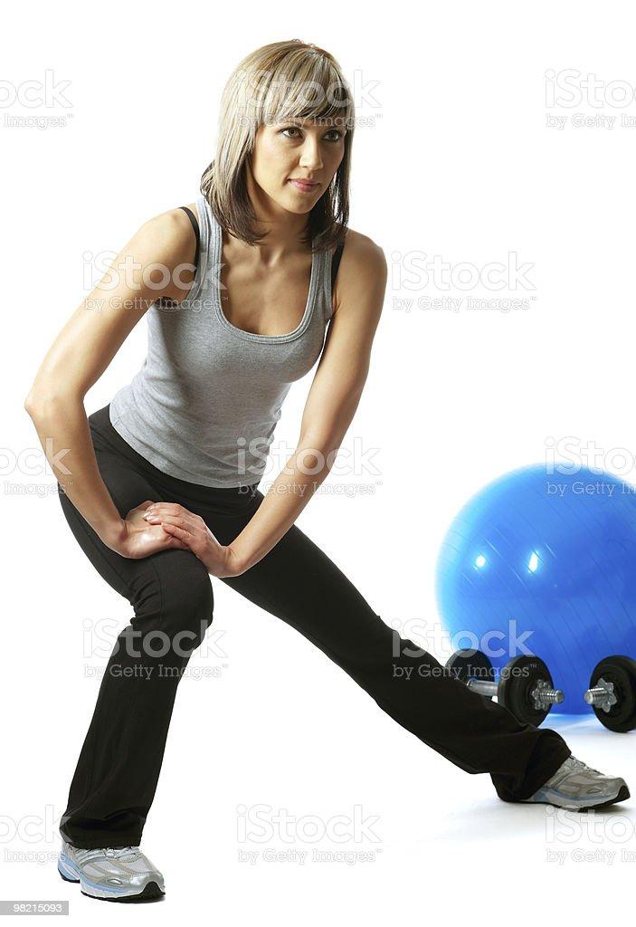 Sportswoman saltando foto stock royalty-free