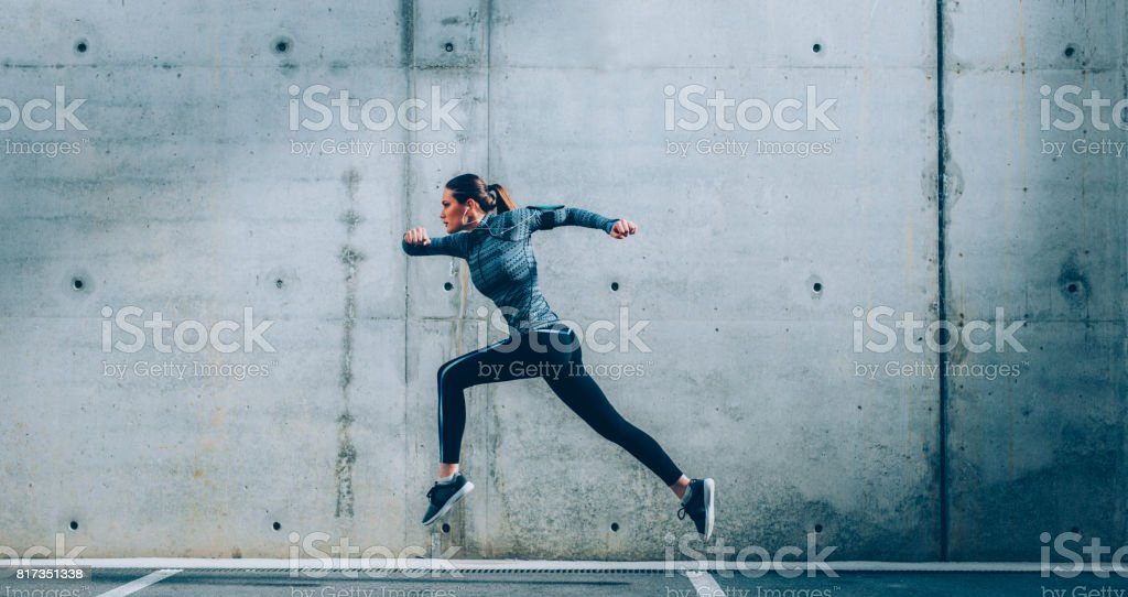 Sportswoman stock photo