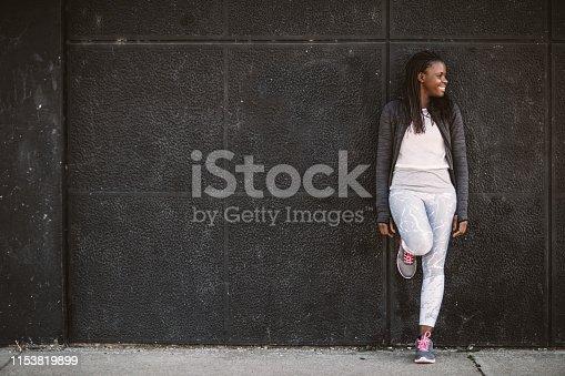 Sportswoman resting