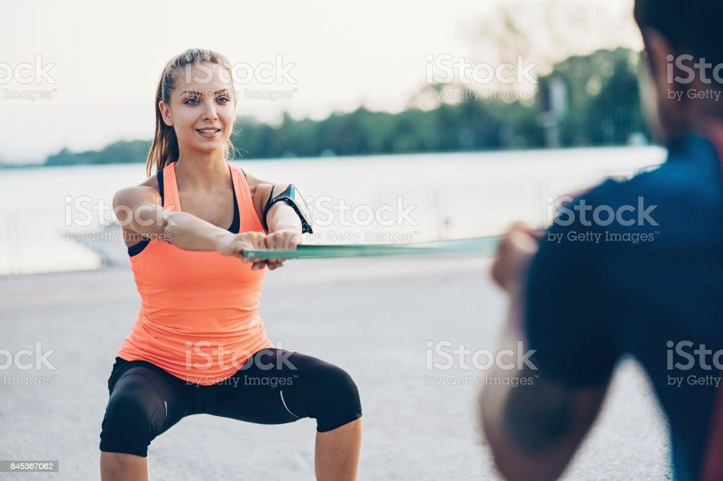 Libre de formación del deportista - foto de stock