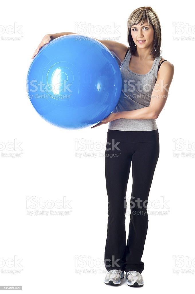 Sportswoman, 짐볼 royalty-free 스톡 사진