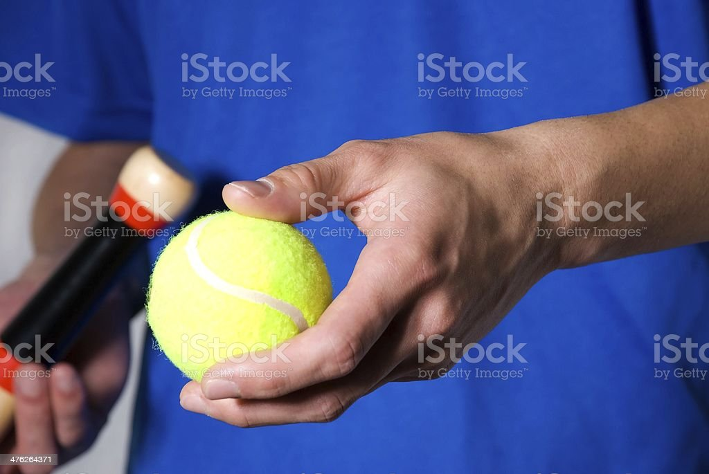 sporty cutout with tennis ball royalty-free stock photo