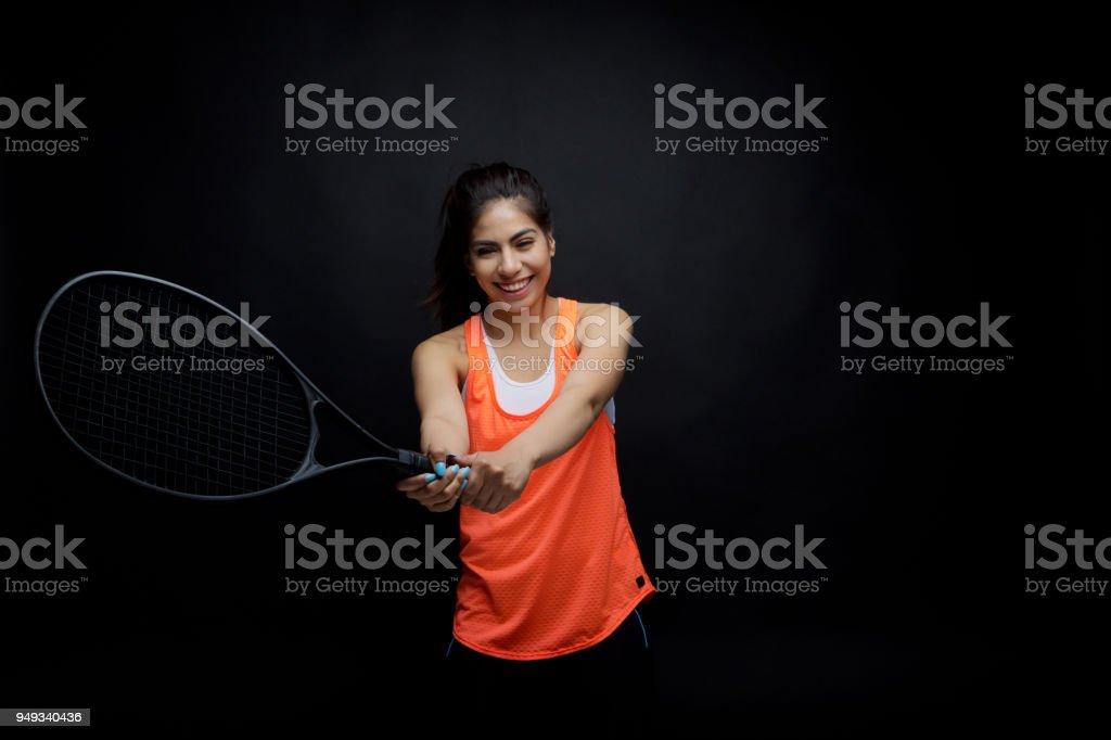 Sporty female stock photo