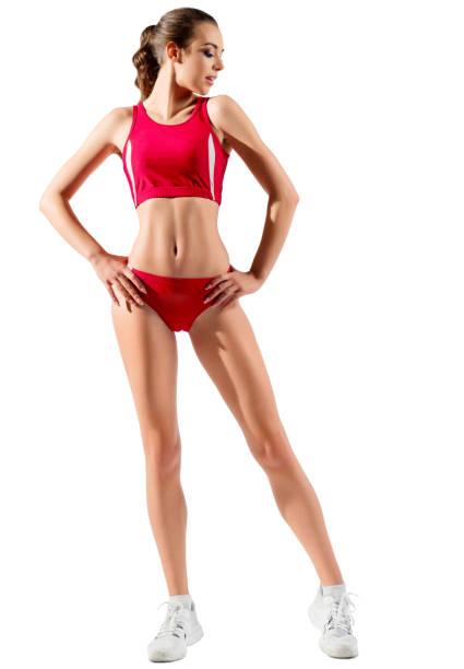 Sporty girl isolated stock photo