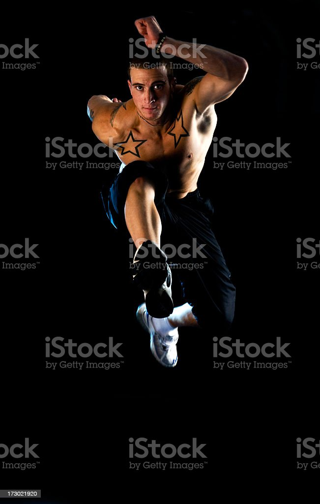 Sporty guy royalty-free stock photo