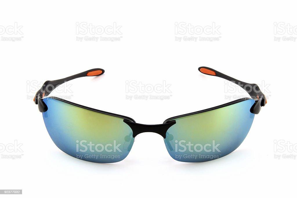 Sporty sunglasses on white background royalty-free stock photo