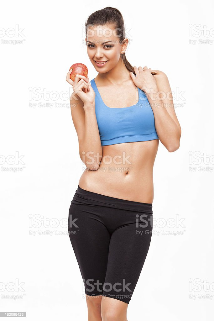 Sporty teenager girl royalty-free stock photo