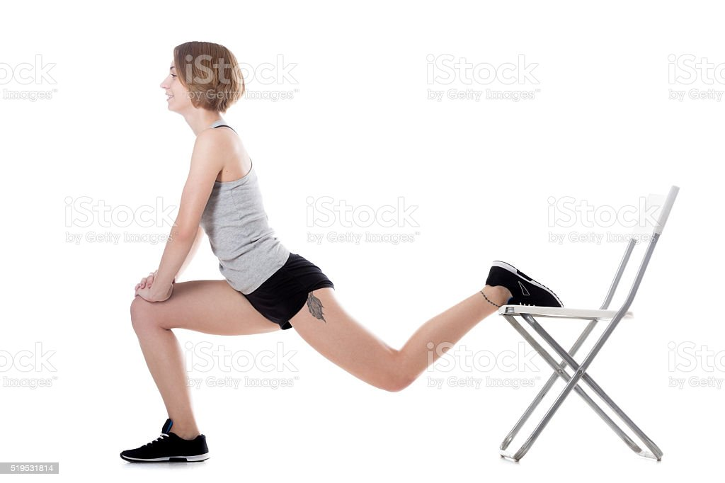 Sporty woman fitness training stock photo