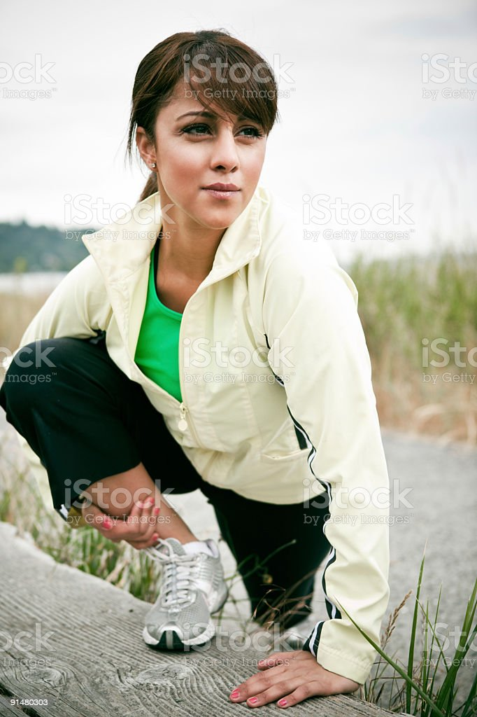 Sporty woman royalty-free stock photo