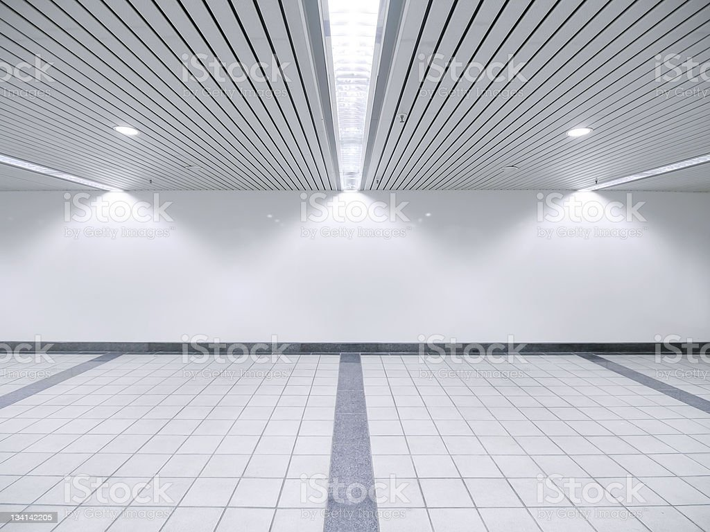 Spot light and blank wall royalty-free stock photo
