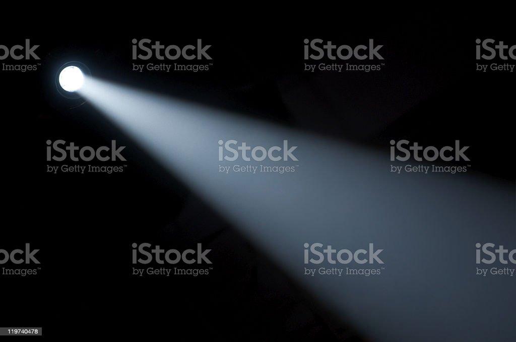 Spot light beam. Flashlight royalty-free stock photo