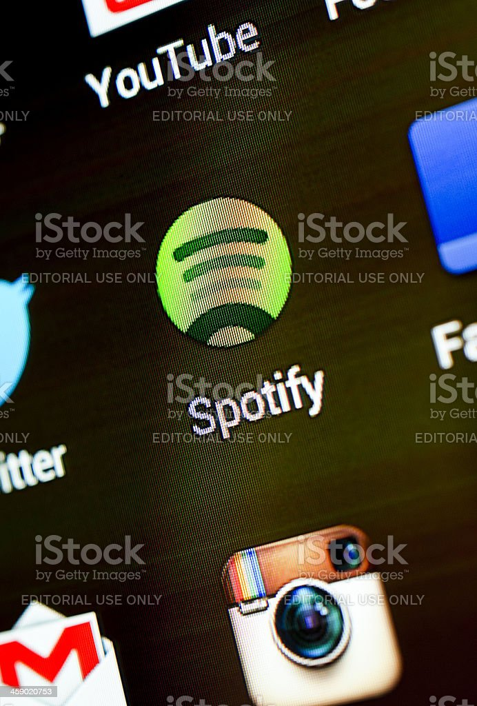 Spotify app royalty-free stock photo