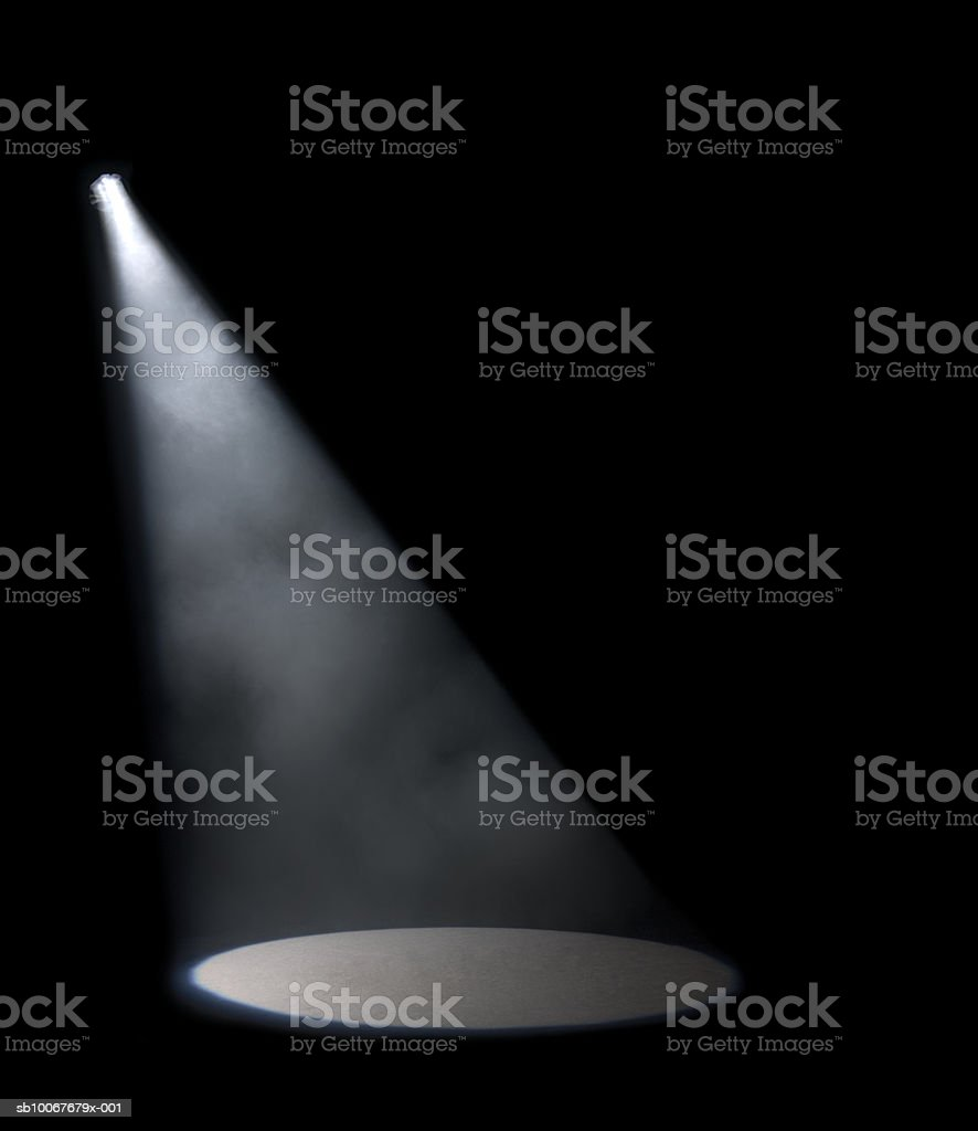 Spotlight in studio royalty-free stock photo