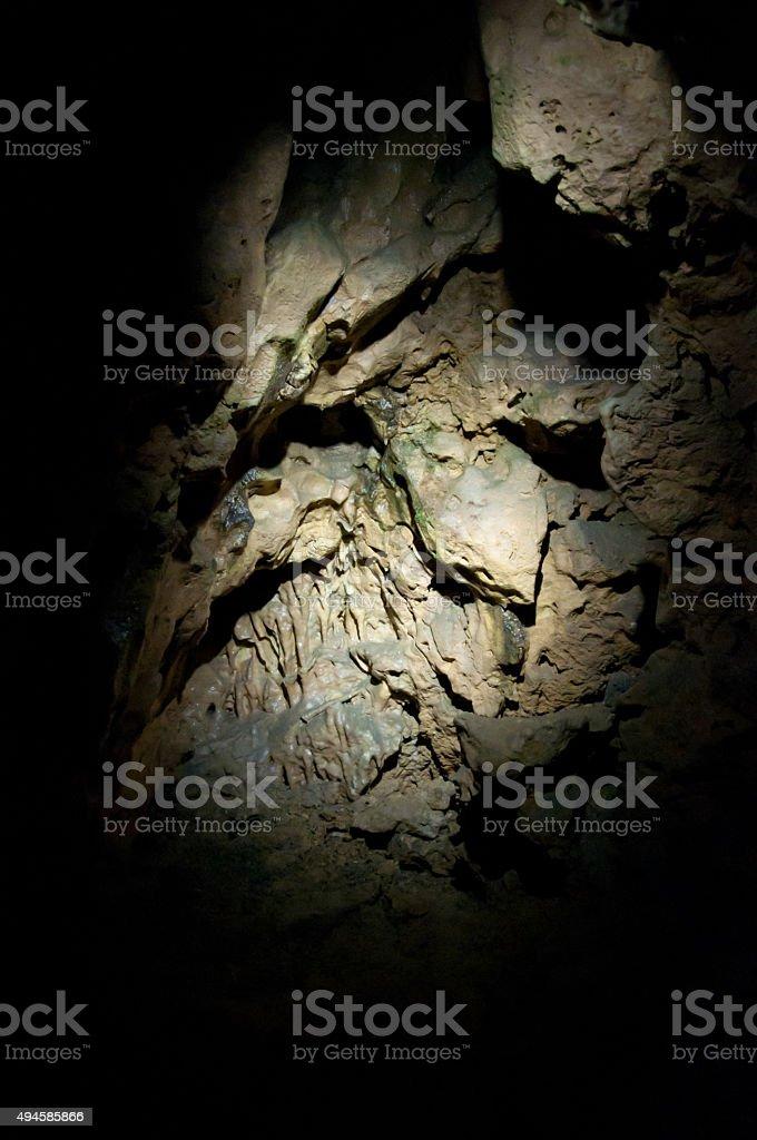 spotlight on rock stock photo