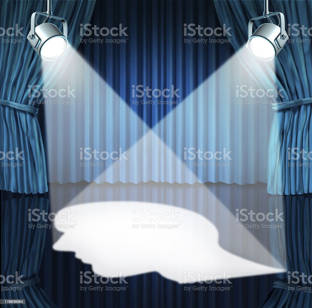 Spotlight On The Brain stock photo